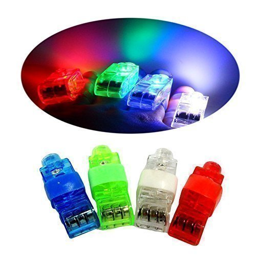 Cade Super Bright Finger Flashlights - LED Finger Lamps - Rave Finger Lights, Pack of 40