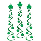 Shamrock Whirls Party Accessory (1 count) (3 Pkg)