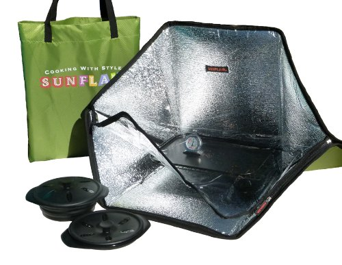 Sunflair Portable Solar Oven with Complete Cookware and Thermometer
