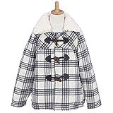 アスナロ(ジャンパー・コート) ダッフルコート 子供 女児 中綿入り 襟ボア コート 裏サテン ジャケット140 グレー