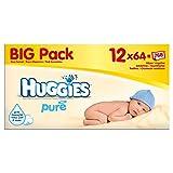 Huggies Pure Baby Wipes (64 per pack x 12) ハギーズ純粋なベビーワイプ(パック×12をあたり64 )