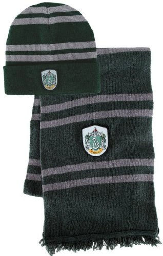 Bundle - 2 items  Harry Potter Slytherin Beanie Hat and Wool Scarf Set ecde7a6c548