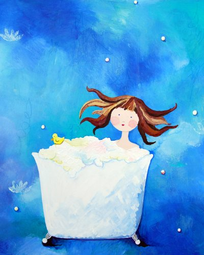 Cici Art Factory Wall Art, Bathtime Paper Print, Small - 1