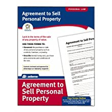 Adams Agreement To Sell Personal Property Form, 8.5 x 11 Inch, White (LF115)
