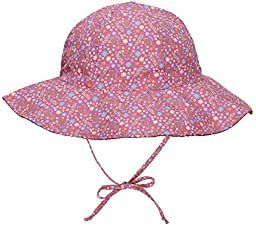 Simpli Kid\'s UPF 50+ UV Ray Sun Protection Wide Brim Baby Sun Hat,Pink Flower,2-4 Years