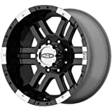 "Moto Metal MO951 Gloss Black Wheel With Machined Face (17x9""/6x139.7mm, -12mm offset)"