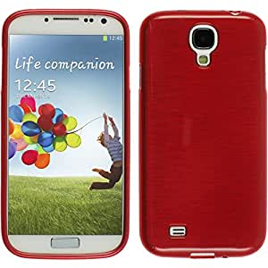Silikon Hülle für Samsung Galaxy S4 - brushed rot - Cover PhoneNatic Schutzhülle Case