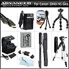 Complete Accessory Kit For Canon PowerShot SX50 HS, SX50HS, SX40 HS SX40HS G1 X G1X, G15, G16 Camera Includes Extended Replacement (1200Mah) NB-10L Battery + AC/DC Charger + Case + Mini HDMI Cable + 57 Tripod + 67 Monopod + 7 Flexible Tripod + More