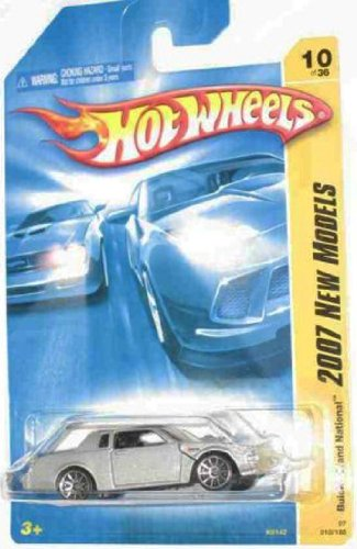 2007 New Models -#10 Buick Grand National Silver 10-Spoke Wheels #2007-10 Mattel Hot Wheels 1:64 Scale Collectible Die Cast Car - 1