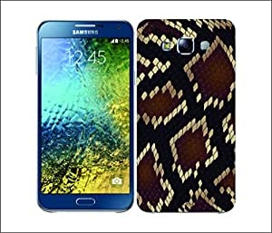 Galaxy Printed 2841 Snake Skin Pattern Phyton Hard Cover for Samsung A7