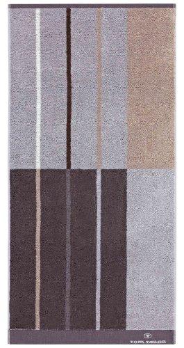 Tom Tailor 100603/902/780 Wellness-Strandtuch, 80 x 200 cm, dunkel grau, silber, sand