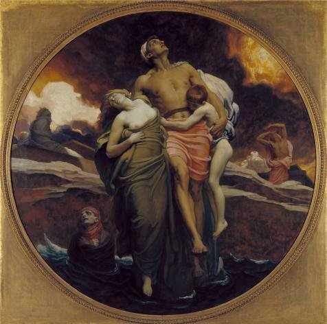 The High Quality Polyster Canvas Of Oil Painting 'Lord Leighton Frederic - And The Sea Gave Up The Dead Which Were In It,1892' ,size: 24x24 Inch / 61x61 Cm ,this High Quality Art Decorative Prints On Canvas Is Fit For Bedroom Decor And Home Gallery Art And Gifts