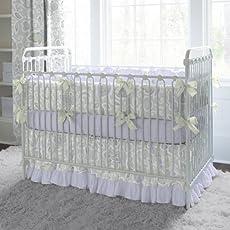 Carousel Designs Orchid Blossoms Three-Piece Crib Bedding Set