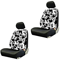 Mickey Mouse Expressions Disney Movie Cartoon Character Auto Car Truck SUV Vehicle Low Back Front Bucket Seat Covers - PAIR