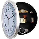 Sleep More White 10-inch Wall Clock-Easy to Read Black Hands & 8 inch Hidden Compartment A Unique Gift For Women Men and Teens.