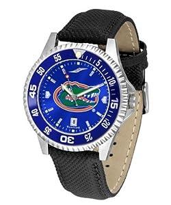 University of Florida Gators Mens Leather Wristwatch by SunTime
