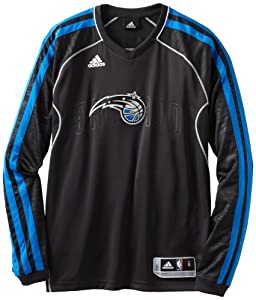 NBA Orlando Magic On-Court Long Sleeve Shooter, Small, Black by adidas
