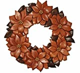 A Woodworking Plan to Scrollsaw Your Own Intarsia Poinsettia Wreath