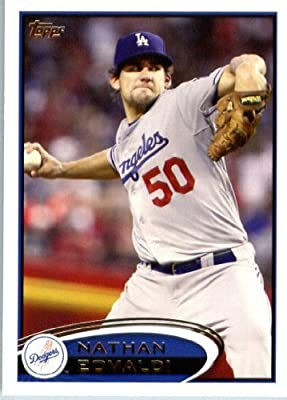 2012 Topps Baseball Card # 405 Nathan Eovaldi - Los Angeles Dodgers - MLB Trading Card