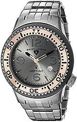 Swiss Legend Men's 21848P-GM-104-RB Neptune Force Analog Display Swiss Quartz Grey Watch