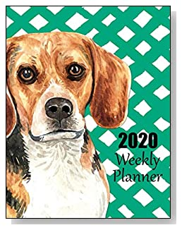 Beagle 2020 Dated Weekly Planner - A fun canine-themed planner to help any dog lover stay organized and keep track of activities on a daily, weekly, and monthly basis from January to December 2020.