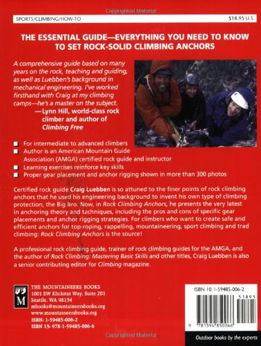 Rock Climbing Anchors: A Comprehensive Guide (Mountaineers Outdoor Expert Series)