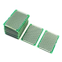 uxcell® 25Pcs Double Sided Protoboard Prototyping PCB Board 4cm x 6cm by uxcell