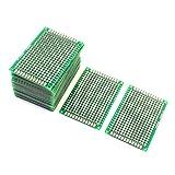 uxcell ユニバーサルPCBボード 電子回路基板 プリント基板 両面 DIY用 25枚セット 4cm x 6cm