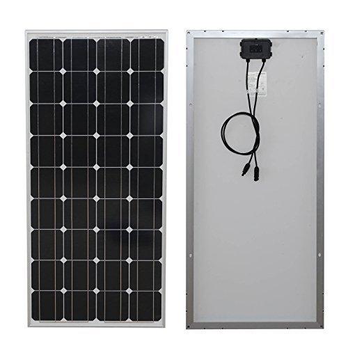 Panel Solar ZODORE 100 vatios monocristalino Fotovoltaica PV Panel Solar modulo 12V Batteria di ricarica per camper barca Caravan, camper o yacht, per off-grid / backup di sistemi di energia solare 100 watt