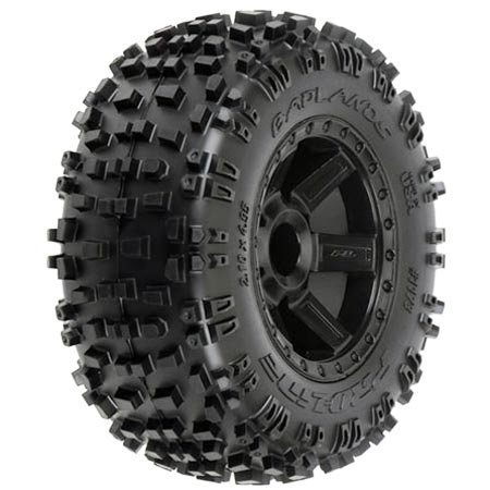 51e%2BtkFulHL Buy  Proline 117313 Badlands 2.8 All Terrain Tire Mounted on Desperado Black Rear Wheel