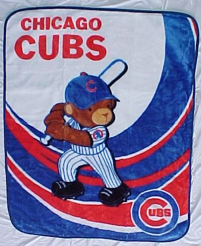 Chicago Cubs Royal Plush Baby Blanket 40