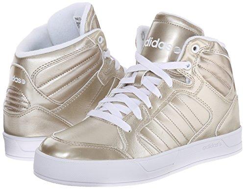 Adidas NEO Women's Raleigh Mid W Casual Sneaker,Cyber Metallic/Cyber Metallic/Running White,8 M US