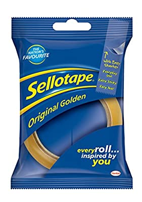 Sellotape Original Tape - 24 mm x 50 m, Golden