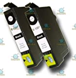 2 Chipped Compatible Epson T1281 Black 'FOX' Ink Cartridges for Epson Stylus SX125 Printer