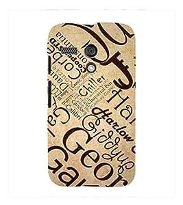 Fuson Premium Printed Hard Plastic Back Case Cover for Motorola Moto G