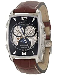 Louis Erard Men's 95211AA12.BDC50 1931 Automatic Tanneau Perpetual Calendar Brown Leather Watch