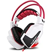 Ovann X60-C-R Comfortable Gaming Headphone Stereo Computer Headset With Mic Dual 3.5mm Jack Volume Control 3D...
