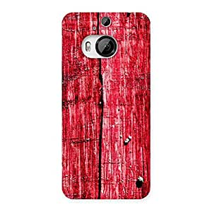 Ajay Enterprises Red Fenced Print Back Case Cover for HTC One M9 Plus