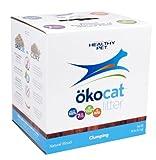 ökocat natural wood cat litter 18 pound clumping