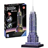 Ravensburger 3D Puzzles Empire State Building Night Edition, Multi Color (216 Pieces)