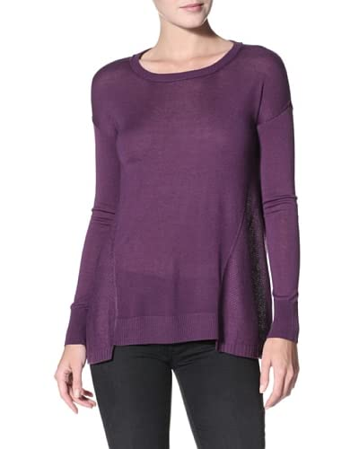 Kokun Women's Loose-Fit Crewneck Sweater  - Amethyst