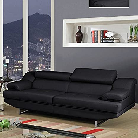 Global Furniture Natalie Sofa, Black and Wagner