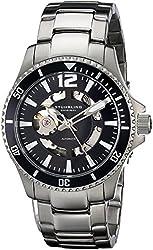 Stuhrling Original Men's 772.01 Regatta Makran Automatic Skeleton Black Dial Watch