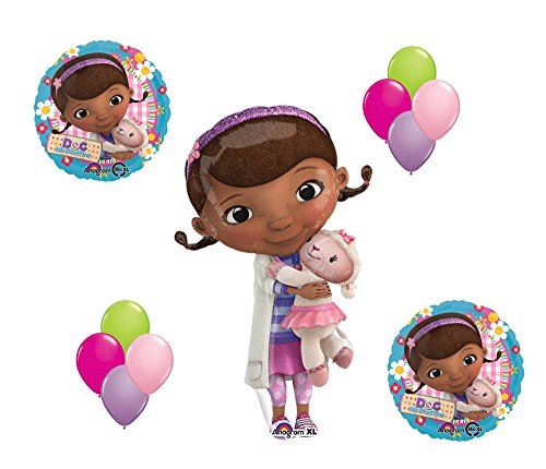 Doc McStuffin and Lambie Mylar Latex Balloon Set Disney Birthday Party Girl - 1