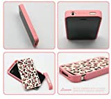 ProDesign DC Pink leopard 3D Hard Case Front & Back Cover Protector Apple iPhone 4 4G 4S