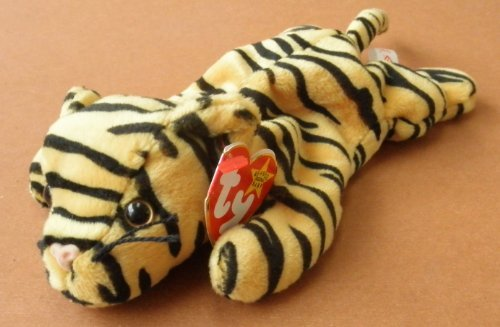 TY Beanie Babies Stripes the Tiger Plush Toy Stuffed Animal - 1