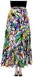 COTTON BREEZE Women's Cotton Skirt (Multi-Coloured)