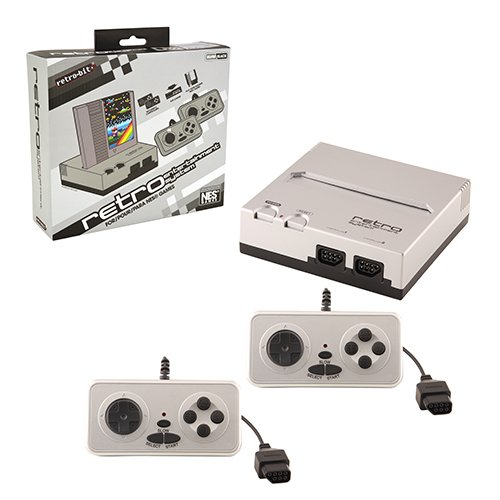 Retro Bit Nintendo NES Entertainment System (Silver/Black) (Old Game Consoles Nintendo compare prices)