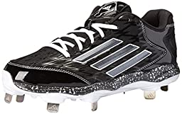 adidas Performance Women\'s PowerAlley 2 W Softball Cleat, Black/Carbon/White, 11 M US