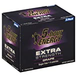 5-Hour Energy Energy Shot, Extra Strength, Grape 6 - 1.93 oz (57 ml) bottle